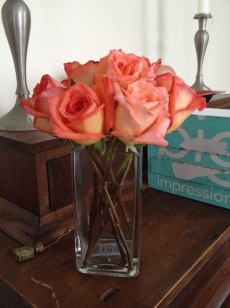 Trial arrangement in square vase